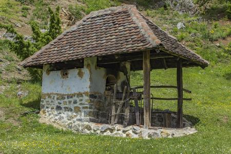 Old traditional house at Dobri Potok in Serbia Banco de Imagens