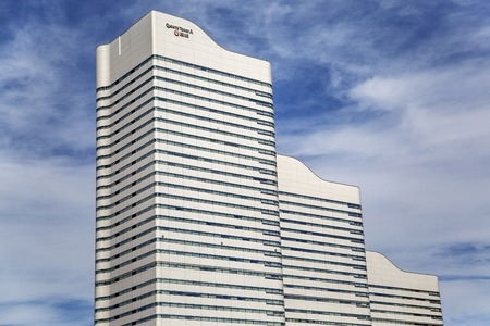 2016 年 10 月 6 日 - 神奈川県横浜市: 横浜のクイーンズ タワー A で表示。それは 1995年に構築するみなとみらい地区 36 階です。