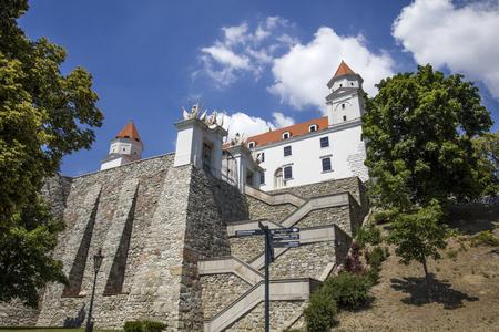 Closeup of the Bratslava castle in Slovakia Stock Photo