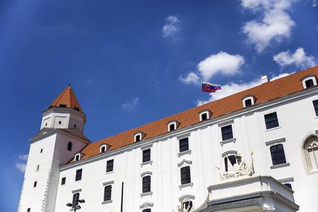 Uitzicht op het kasteel van Bratislava in Slowakije
