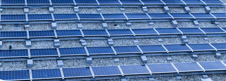 Closeup detail of the group of solar panels 版權商用圖片