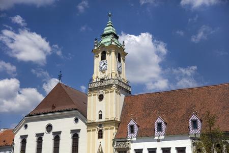 브라 티 슬라바, 슬로바키아에서에서 예수회 교회의 세부 사항 스톡 콘텐츠