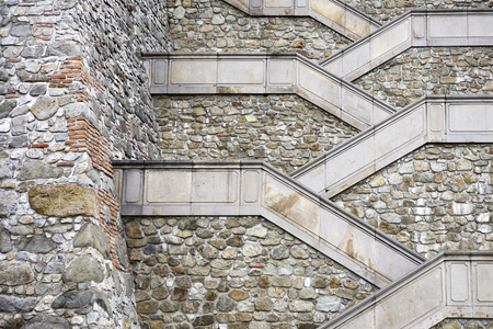 Closeup detail of the old stony stairways Reklamní fotografie