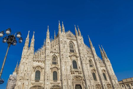 View at Duomo Cathedral in Milan, Italy
