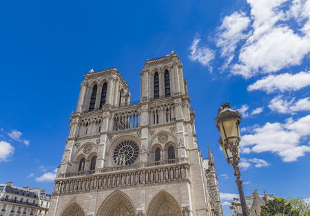 View at Cathedrale Notre Dame de Paris Stock Photo - 81653514