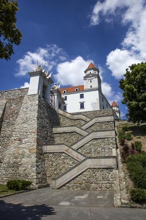 슬로바키아에서 Bratslava 성의 근접 촬영