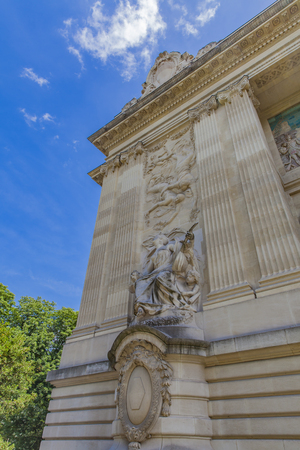 Detail of Palais de la Decouverte in Paris, France