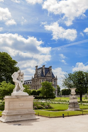 Detail of the Tuileries Garden in Paris, France Sajtókép