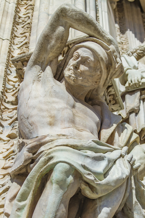 Closse up detail view at  Milan Cathedral, Italy