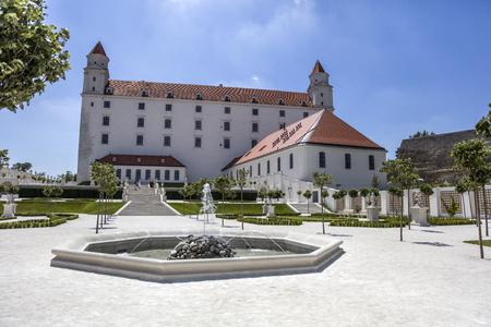 View at Bratislava Castle in Slovakia