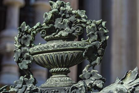 Closeup detail of the Duomo di Bergamo in Italy 新聞圖片