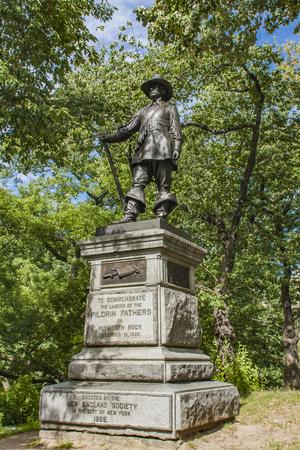 ピルグリム記念碑 1885 年にジョン ・ クィンシー ・ アダムズ ・ ウォードによって行われたセントラル ・ パーク、ニューヨーク