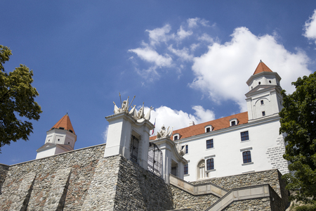 Closeup of the Bratslava castle in Slovakia Editorial