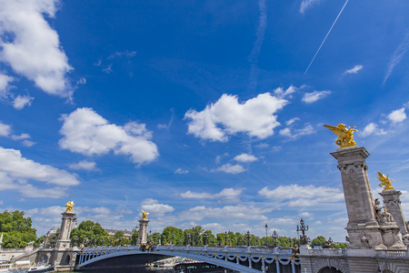 Detail of the Pont Alexandre III in Paris, France Editorial
