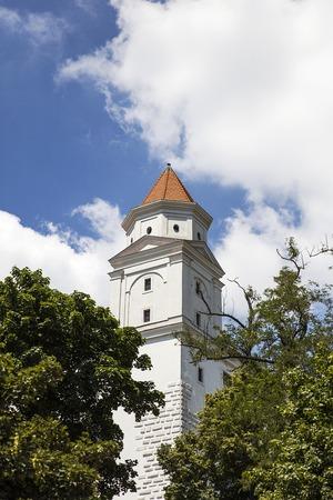 Mening bij het Kasteel van Bratislava in Slowakije