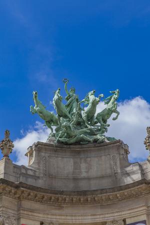 Quadriga statue at Grand Palais in Paris, France Stock Photo