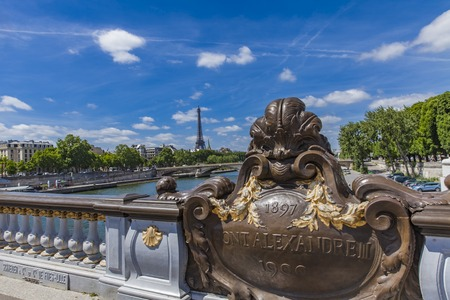 Detail of the Pont Alexandre III in Paris, France Sajtókép