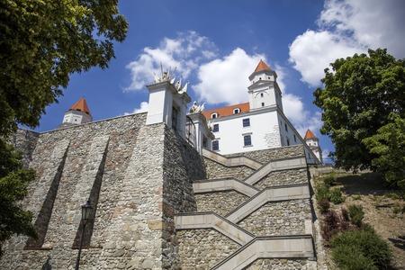Closeup of the Bratslava castle in Slovakia 版權商用圖片