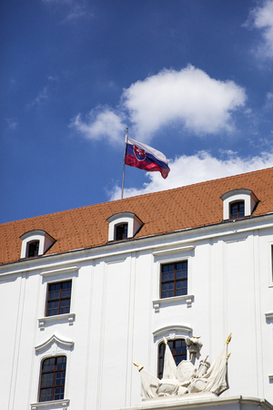 View at the Bratislava Castle in Slovakia