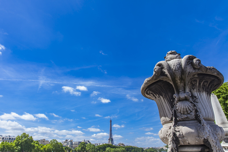 Detail of the Pont Alexandre III in Paris, France Stock Photo