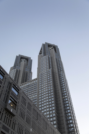 TOKYO, JAPAN - OCTOBER 2, 2016: View at Tokyo Metropolitan Government Building in Japan. This 48 floors high building is the third tallest structure in Tokyo.