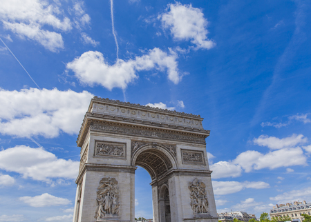 View at Arc de Triomphe in Paris, France
