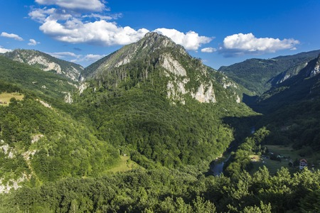 View at canyon of river Tara in Montenegro Stock Photo