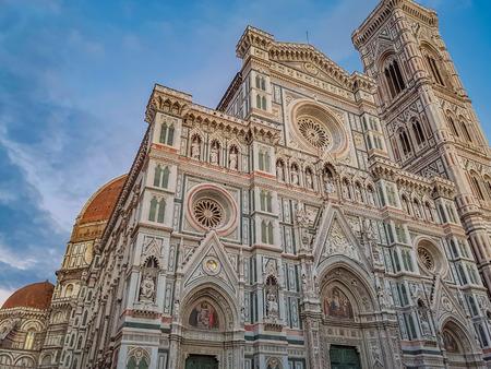 피렌체, 이태리에서 Cattedrale 디 산타 마리아 델 Fiore의 세부 사항