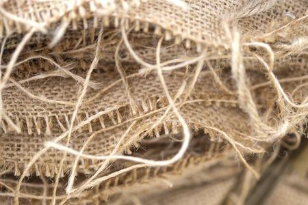 Close up detail view at sack