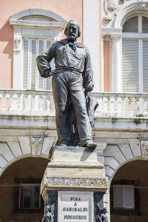 View at Monument to Giuseppe Garibaldi in Pisa, Italy Фото со стока