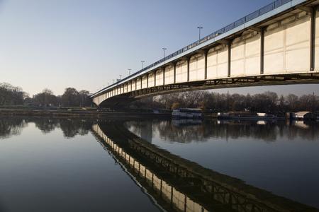View at bridge over the river Sajtókép