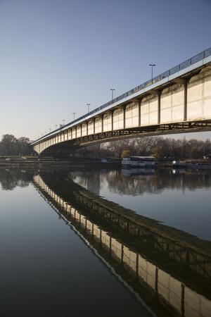 View at bridge over the river Redakční