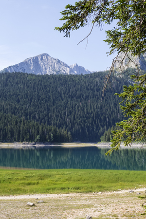 View at Black Lake on Durmitor Mountain in Montenegro