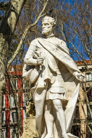 Ordono II de Leon monument in Madrid, Spain