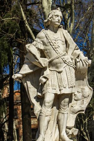 Alfonso III de Asturias monument in Madrid, Spain Stock fotó