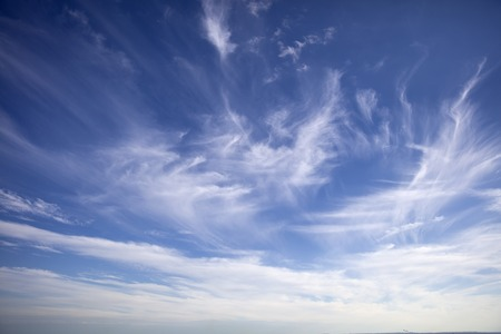 View at blue sky with clouds