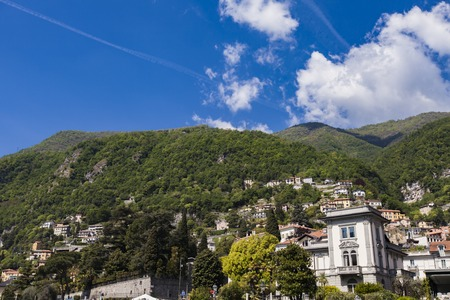 View at Moltrasio from boat Banco de Imagens