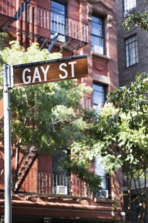 View at Gay street sign in New York, United States