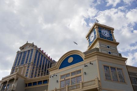 シーザース ホテル、アメリカ合衆国、アトランティックシティのカジノからアトランティック ・ シティ、アメリカ合衆国 - 2017 年 8 月 26 日: 詳細。 写真素材