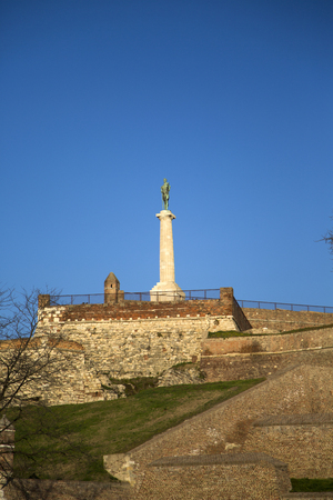 View at Victor monument in Belgrade, Serbia