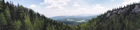 Panoramic view at Alps in Pokljuka, Slovenia
