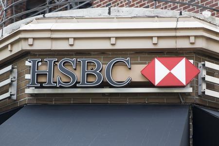 ニューヨーク、アメリカ合衆国の HSBC 銀行からニューヨーク、アメリカ合衆国 - 2017 年 8 月 22 日: 詳細。7500 を超えるオフィスと 85000 従業員最大の銀 報道画像