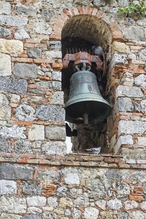 Close view at church bell