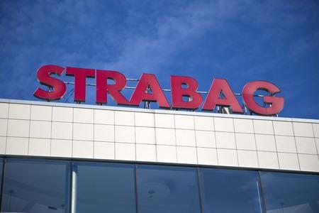 ベオグラード, セルビアの構築 Strabag からベオグラード、セルビア - 2014 年 8 月 28 日: 詳細。Strabag は、フィラッハ, オーストリア, 1835 で設立した欧