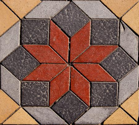 Detail van geometrische bestrating uit Marmaris, Turkije
