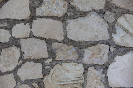 Vue rapprochée à mur de pierre empilé Banque d'images - 87161887