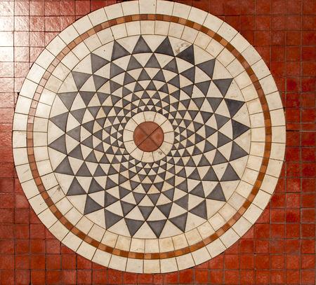 Detail of geometrical paving from Marmaris, Turkey