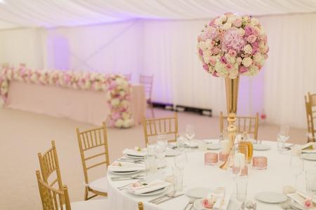vue de la décoration de mariage de luxe