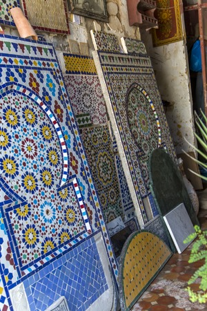 Detail from the Moroccan tile workshop in Rabat