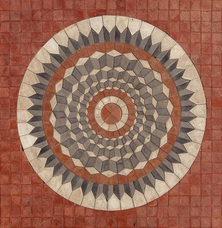Detail of geometrical paving from Marmaris, Turkey Stok Fotoğraf - 87244441